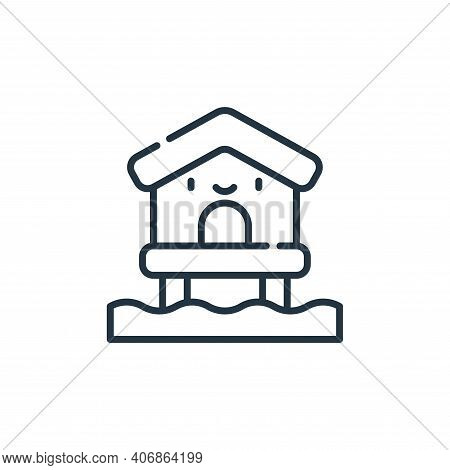 beach house icon isolated on white background from reggae collection. beach house icon thin line out