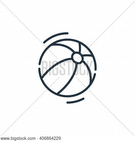 beach ball icon isolated on white background from circus collection. beach ball icon thin line outli
