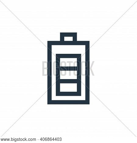 battery icon isolated on white background from web essentials collection. battery icon thin line out