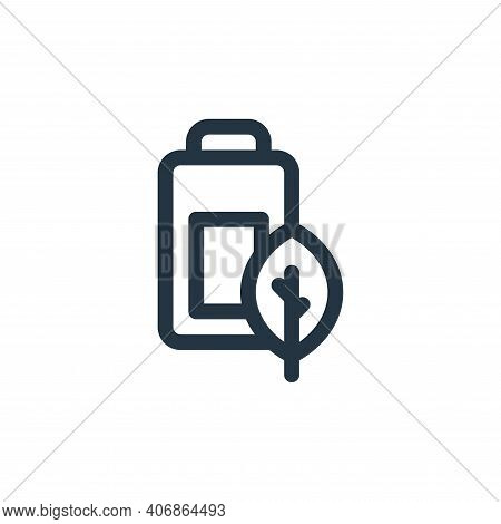 battery icon isolated on white background from mother earth day collection. battery icon thin line o
