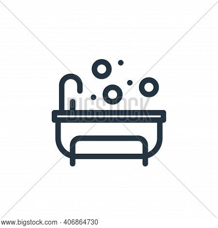 bathing icon isolated on white background from personal hygiene collection. bathing icon thin line o