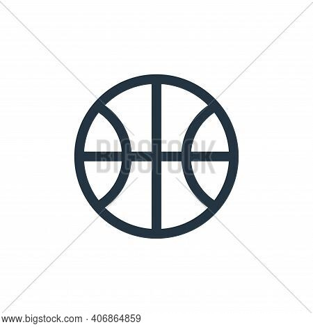 basketball ball icon isolated on white background from united states of america collection. basketba