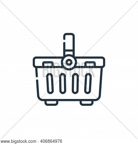 basket icon isolated on white background from plastic products collection. basket icon thin line out