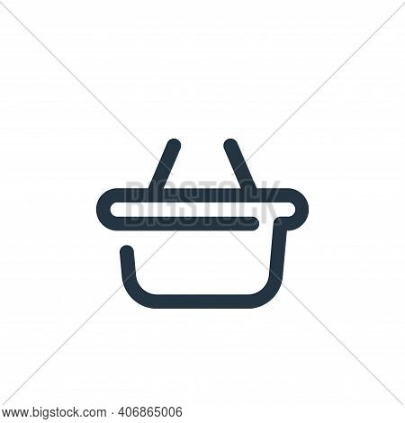 basket icon isolated on white background from shopping collection. basket icon thin line outline lin