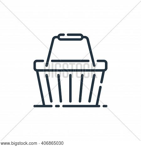 basket icon isolated on white background from user interface collection. basket icon thin line outli