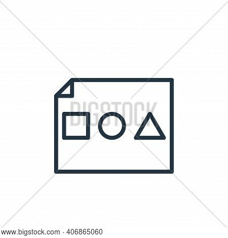 basic shapes icon isolated on white background from graphic design collection. basic shapes icon thi