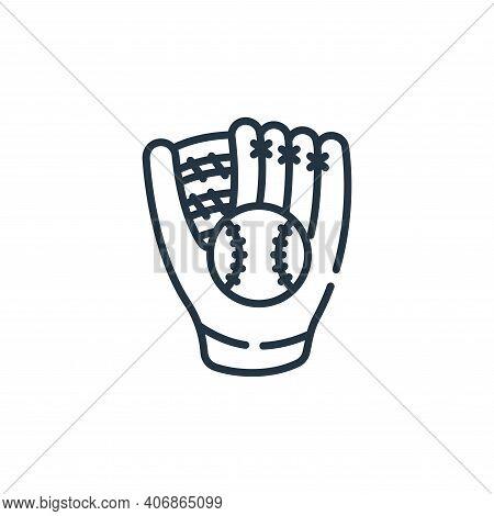 baseball glove icon isolated on white background from baseball collection. baseball glove icon thin