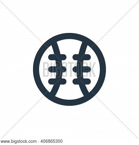 baseball icon isolated on white background from sport collection. baseball icon thin line outline li
