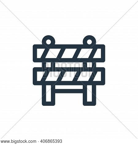 barrier icon isolated on white background from emergencies collection. barrier icon thin line outlin