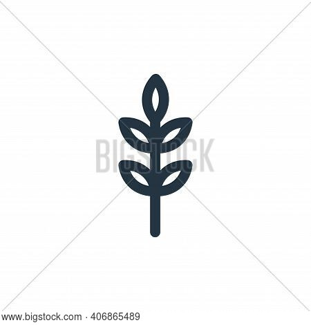 barley icon isolated on white background from landscaping equipment collection. barley icon thin lin