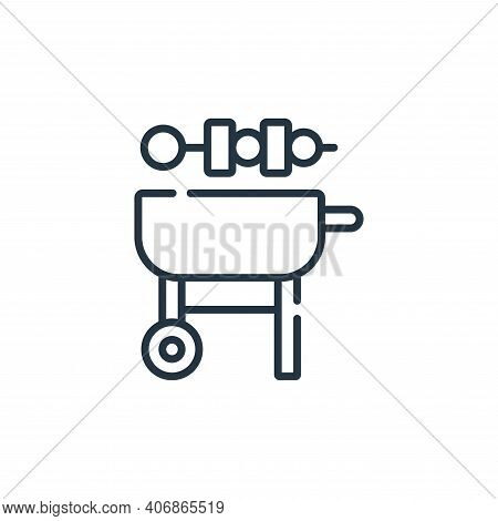 barbeque icon isolated on white background from free time collection. barbeque icon thin line outlin