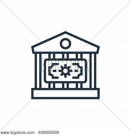 bank icon isolated on white background from economic crisis collection. bank icon thin line outline