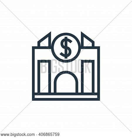 bank icon isolated on white background from finance collection. bank icon thin line outline linear b