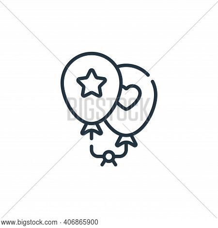 balloons icon isolated on white background from children toys collection. balloons icon thin line ou