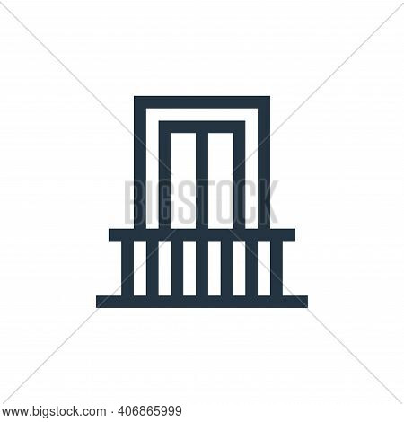 balcony icon isolated on white background from mental health collection. balcony icon thin line outl