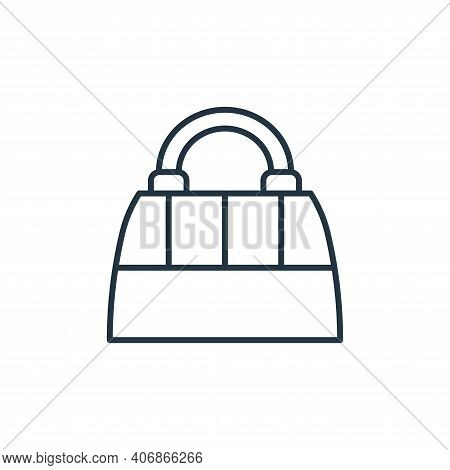 bag icon isolated on white background from accessory collection. bag icon thin line outline linear b