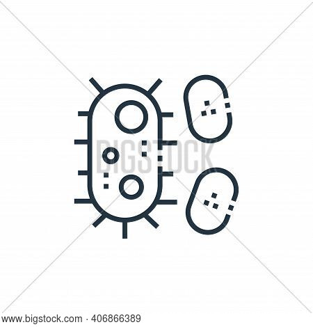 bacteria icon isolated on white background from medical services collection. bacteria icon thin line