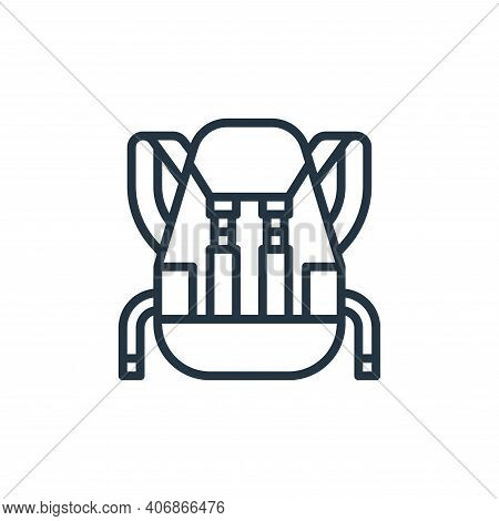 backpack icon isolated on white background from travel collection. backpack icon thin line outline l