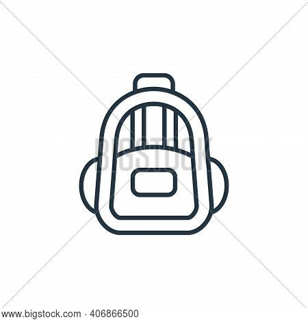 backpack icon isolated on white background from education collection. backpack icon thin line outlin