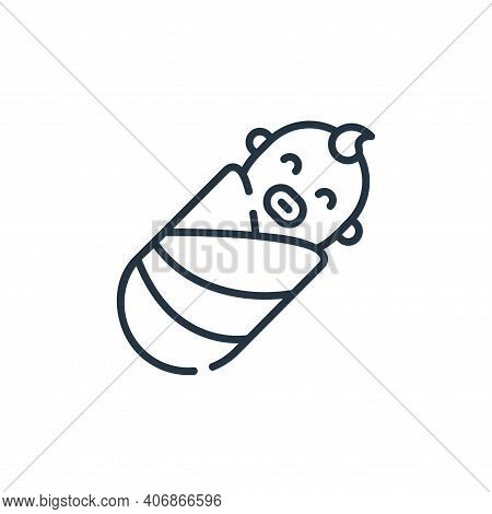 baby icon isolated on white background from maternity collection. baby icon thin line outline linear