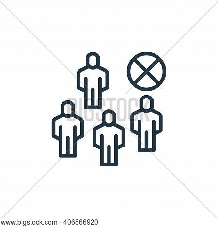 avoid crowds icon isolated on white background from coronavirus collection. avoid crowds icon thin l