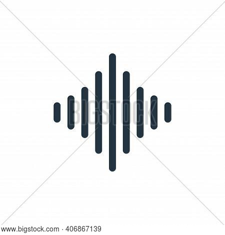 audio waves icon isolated on white background from music collection. audio waves icon thin line outl