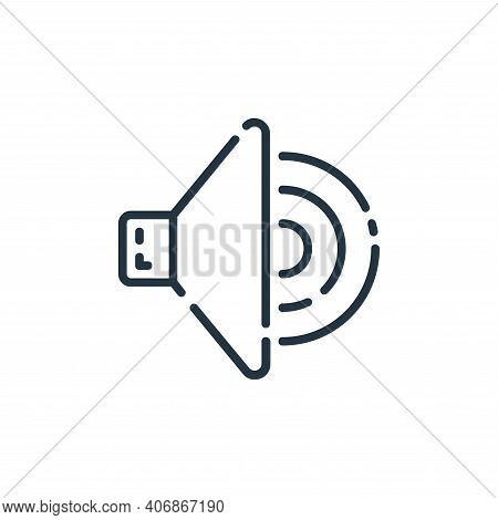 audio icon isolated on white background from user interface collection. audio icon thin line outline