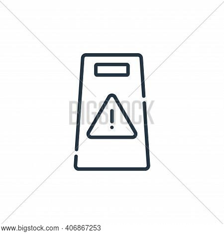 attention icon isolated on white background from signals and prohibitions collection. attention icon