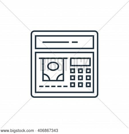 atm machine icon isolated on white background from technology devices collection. atm machine icon t
