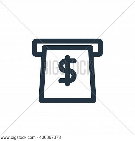 atm icon isolated on white background from marketing business collection. atm icon thin line outline