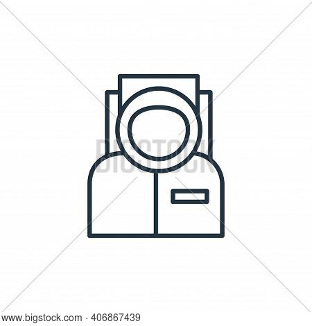 astronaut icon isolated on white background from space collection. astronaut icon thin line outline