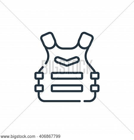 armor icon isolated on white background from videogame collection. armor icon thin line outline line