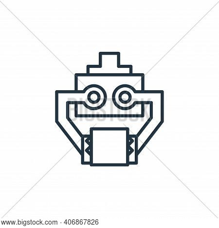 arm icon isolated on white background from robotics collection. arm icon thin line outline linear ar