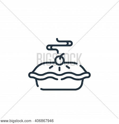 apple pie icon isolated on white background from celebration collection. apple pie icon thin line ou