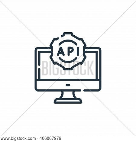 api icon isolated on white background from web development collection. api icon thin line outline li