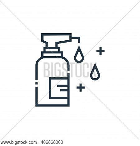 antiseptic icon isolated on white background from medical services collection. antiseptic icon thin