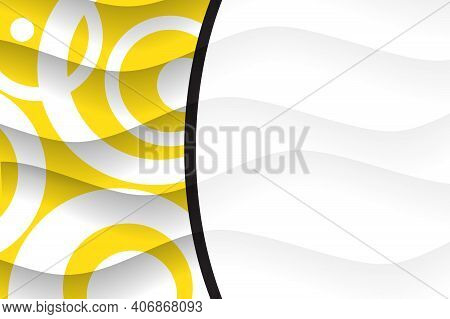 Abstract Background From Geometric Shapes And Circles. Stylish Wallpaper For Spring And Summer. Copy