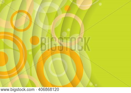 Abstract Background From Geometric Shapes And Circles. Stylish Wallpaper For Spring And Summer. Pres
