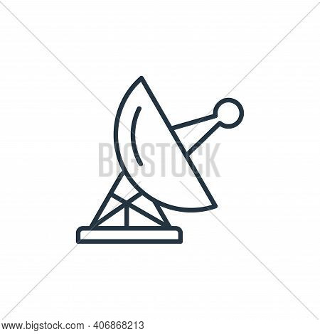 antenna icon isolated on white background from space collection. antenna icon thin line outline line