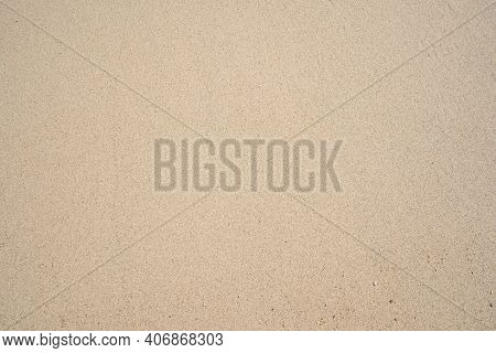 Top View Of Fine Sand Texture Natural Background Summer And Travel Background.