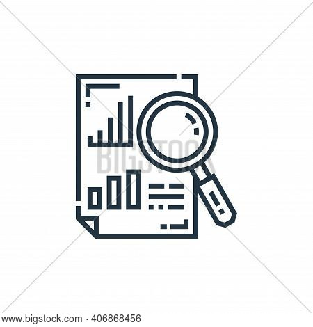analytics icon isolated on white background from marketing collection. analytics icon thin line outl