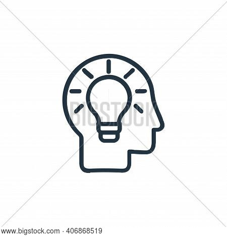 analytical thinking icon isolated on white background from chess game collection. analytical thinkin