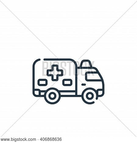 ambulance icon isolated on white background from medical services collection. ambulance icon thin li