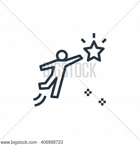 ambition icon isolated on white background from work life balance collection. ambition icon thin lin