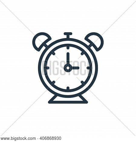 alarm clock icon isolated on white background from school collection. alarm clock icon thin line out