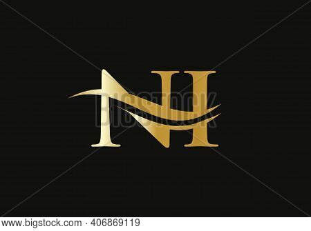 Ni Linked Logo For Business And Company Identity. Creative Letter Ni Logo Vector With Modern Trendy