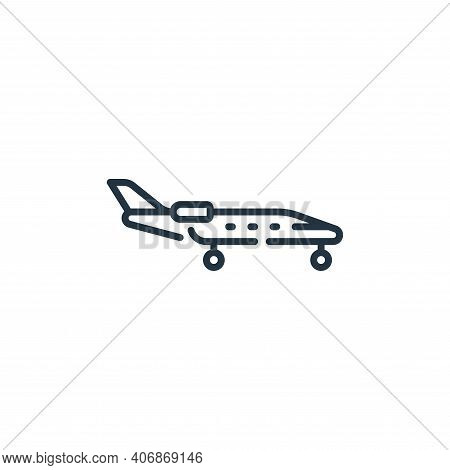 aircraft icon isolated on white background from fame collection. aircraft icon thin line outline lin