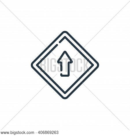 ahead only icon isolated on white background from signals and prohibitions collection. ahead only ic
