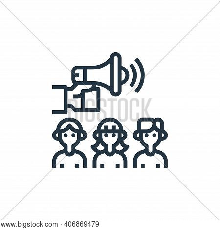 advertise icon isolated on white background from branding collection. advertise icon thin line outli
