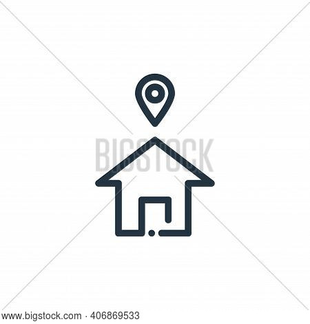 address icon isolated on white background from ricon collection. address icon thin line outline line